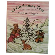 O Christmas Tree Miniature Book Illustrated by Michael Hague with Bears - Red Tag Sale Item