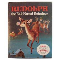 1976 Rudolph The Red Nosed Reindeer Smucker's Premium Children's Book Hazen & May Richard Scarry Illustrated
