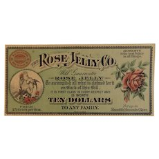 1880s Rose Jelly Co Advertising New Midway Frederick County Maryland Victorian Era Paper