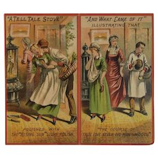 Victorian Trade Card Booklet from Rising Sun Stove Polish A Tell Tale Stove