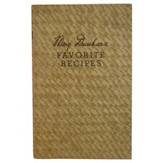 Jewel Tea Mary Dunbar's Favorite Recipes Cookbook 1930s 1940s Vintage Kitchen