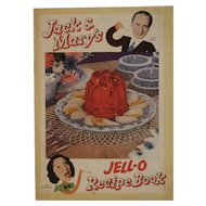 1937 Jack & Mary's Jell-O Recipe Book Jello Cookbook Jack Benny Mary Livingstone