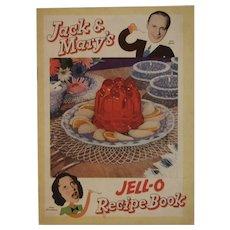 1937 Jack & Mary's Jell-O Recipe Book Jello Cookbook Jack Benny Mary Livingstone