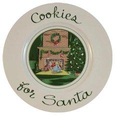 Burleigh Cookies for Santa Christmas Plate England English