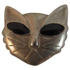 Vintage Cat Face Pin