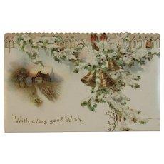 Hagelberg German Die Cut Christmas Card Victorian Era