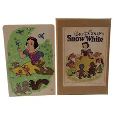 Vintage Snow White Crayon Caddy in Original Box Enesco Walt Disney Productions