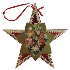 Handcrafted Christmas Star Ornament Foil and Die Cut Scrap in Original Package