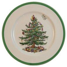 Copeland Spode Christmas Tree Dinner Plate Older Brown Mark Vintage Holiday Tableware