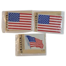 3 NOS Impko US Flag Decals Sealed in Original Packages American Patriotic