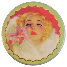 Irresistible Face Powder Box with Flapper Lady