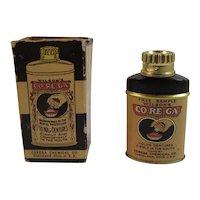 Miniature Wilson's Corega Tin Dentists Sample in Original Box Co-Re-Ga Vintage Medical Tin Denture Powder
