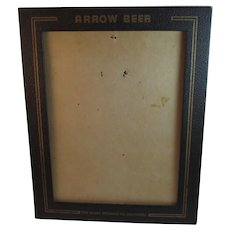 Arrow Beer Menu Frame Holder The Globe Brewing Co Baltimore Maryland 1930s Advertising