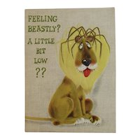 Vintage Pop Up Get Well Greeting Card with Lion Unused