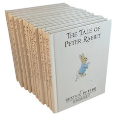 Set of 12 Tale of Peter Rabbit Books Volumes Vintage by Beatrix Potter Series
