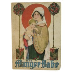 c 1916 The Manger Babe Illustrated by Margaret Evans Price Art Nouveau Color Lithographs Isabel C. Byrum Childrens Christmas Book