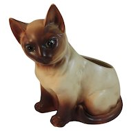 Napco Blue Eyed Siamese Cat Planter Napcoware Japan Vintage Mid Century Kitty