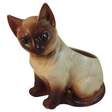 Napco Blue Eyed Siamese Cat Planter Napcoware Japan Vintage Mid Century Kitty