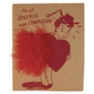 Buzza Cardoso Valentine Card Vintage Sweetheart Unused