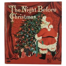 1960 The Night Before Christmas Whitman Book Illustrated by Catherine Barnes First Edition Hardcover Childrens Book Clement C Moore