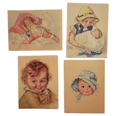 4 Maud Tousey Fangel Baby Lithograph Prints GP 3292 5482 5422 2472 Illustrations