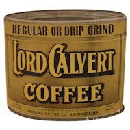 1930s Lord Calvert Coffee and Vesper Tea Advertising Needle Book Vintage Sewing Levering Baltimore, MD