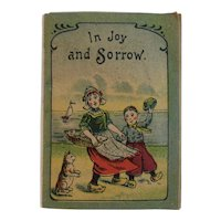 German Miniature Childrens Book In Joy and Sorrow Illustrated Poem Verse