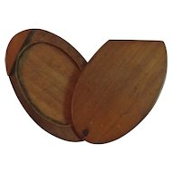 Folk Art Sliding Sweetheart Frame Oval Wood