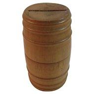 Mustard Yellow Treen Bank Hand Made Folk Art Treenware Hand Turned Wood Pennsylvania