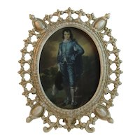 Gothic Cast Iron Frame with Gainsborough Blue Boy Print Swing Arm