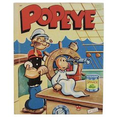 Vintage Popeye Wonder Book Childrens Book Illustrated by Bud Sagendorf
