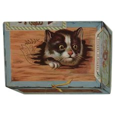 Victorian Cat Ad Trade Card for Jose Morales Tobacco 3D Box Shape Advertising Boiling Springs Pennsylvania