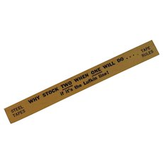 Lufkin Advertising Wood Miniature Ruler Red End for Steel Tapes and Tape Rules