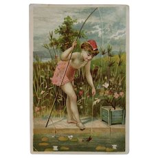 Victorian Nymph Trade Card for Sharpless Brothers