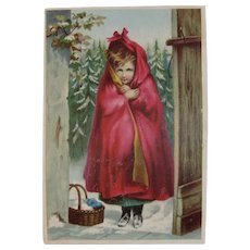 Dr. Jayne's Little Red Riding Hood Advertising Trade Card Sanative Pills Medical Quackery