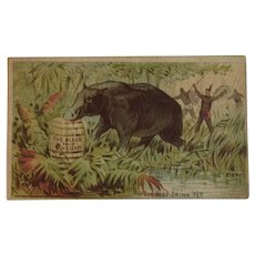 Alden Fruit Vinegar Wild Boar Victorian Trade Card The Best Drink Yet