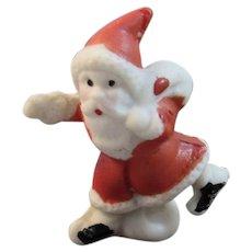 Miniature Bisque Snowbaby Santa Claus Japan Snow Baby
