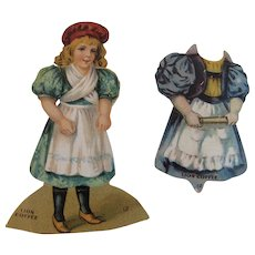 Lion Coffee Die Cut Paper Doll with Dress The Baker Victorian Advertising