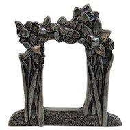 Miniature Pewter Frame by Royal Selangor Flowers Floral Motif In Original Box