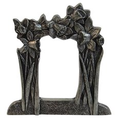 Miniature Pewter Frame by Royal Selangor Flowers Floral Motif In Original Box