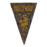Hollywood Stars Baseball Mini Felt Pennant American Nut & Chocolate Co Premiums Minor League Team Vintage