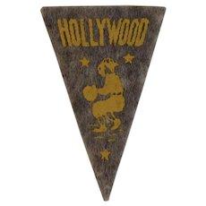 Hollywood Stars Baseball Mini Felt Pennant American Nut & Chocolate Co Premiums Jersey City Minor League Team Vintage