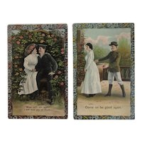 WWI Military Sweetheart Postcards Army Navy World War I Theocrom Series
