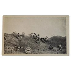 Mexico Border War Postcard Pancho Villa's Troops in Action Kavanaugh's War Postals
