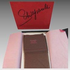 Schiaparelli Skapalon Seamless Stretch Stockings Chinchilla Color Size Medium 8 1/12 - 9 1/2 Never Worn in Original Box Vintage