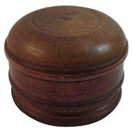 Treen Box Hand Made Folk Art Treenware Turned Wood