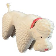 German Poodle Nodder Vintage S.A. Reider Hard Plastic Dog Germany
