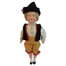 Celluloid Jointed 6 Inch Ethnic Doll Austrian