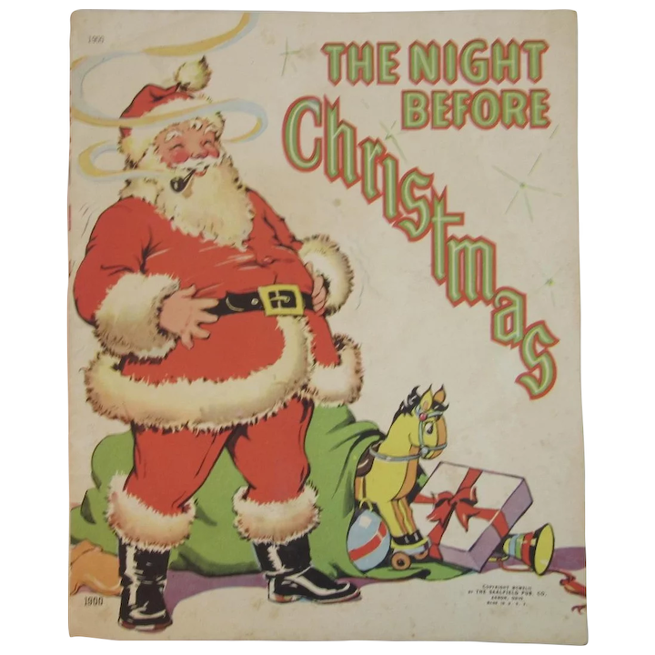 1942 The Night Before Christmas Book Illustrated By Ethel Hays Ss Moore Antiques Ruby Lane