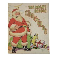 1942 The Night Before Christmas Book Illustrated by Ethel Hays Children's Book